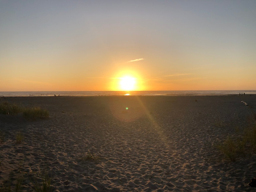 Sunset In Seaside,Oregon